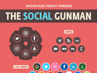 Growcase Friday Freebie: The Social Gunman (Icons & Concept)
