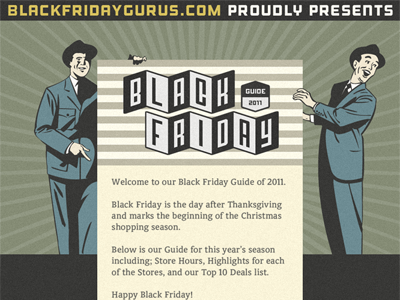 Blac friday guide 2011  infographic