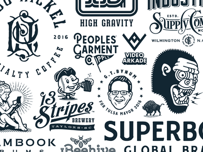 Forefathers Logo Collection Vol. 4 branding collection logotype logomark logo forefathers growcase