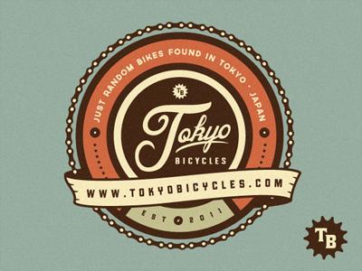 Tokyo Bicycles Logo growcase logo logotype emblem banner banners chain bike bikes bicycle bicycles tokyo japan kraftwerk mark complementary mark retro vintage cog wheel classic logo design logo designer badge logos branding shield identity type typography cycling
