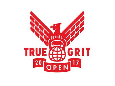 True Grit Open 2017 workout training weightlifting eagle fitness gym kettle bell true grit kettlebell brand identity logotype logo growcase
