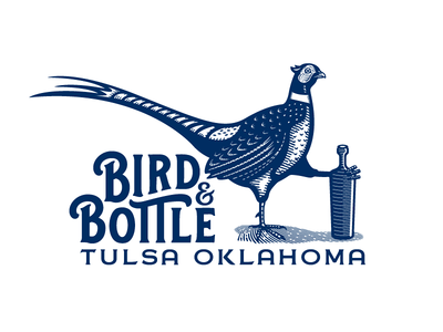 Bird & Bottle pheasant typography logotype bar and eatery tulsa oklahoma bird  bottle bird and bottle branding logomark logo forefathers growcase