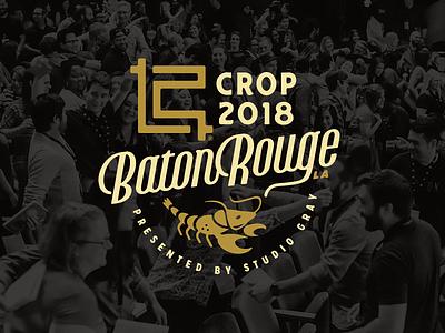 CROP 2018 lettering crawfish baton rouge crop conference branding logomark logo forefathers growcase