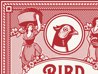 Bird & Bottle Wine Label