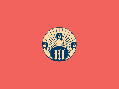 3 Sirens - Complementary Mark trident forefather tulsa oklahoma logomark logotype brand identity branding 3 sirens logo design logo growcase