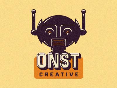ONST Creative - Further Robotic Logo Exploration. logo design logo designer growcase logo robot onst coffee pot onramp michael spitz branding identity logotype robots onst creative