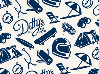Ditty's Dry Goods - Tiled seamless icon pattern