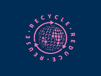 Recycle • Reduce • Reuse brew beatnik craft beer miami florida beat culture brewing company brewery growcase recycling icon globe recycle reduce reuse