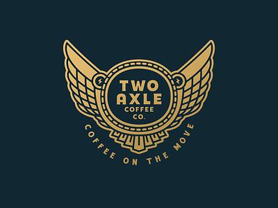 Two Axle Coffee Co. two axle coffee co mobile espresso bar roaster philadelphia pennsylvania specialty coffee brand identity branding logo design growcase