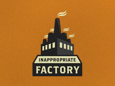 Inappropriate Factory - Logo Suggestion #1 growcase logo logotype identity branding logo design logo designer factory inappropriate inappropriate factory london film movies industrial brothers