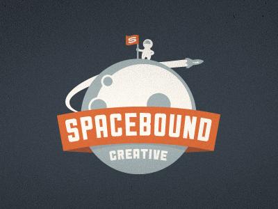 Spacebound Creative Logo - Final growcase logo logotype identity branding logo design logo designer astronaut moon space spacebound spacebound creative rocket outer space flag agency badge emblem