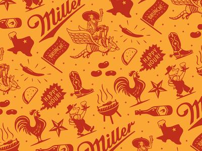 Miller Tavern & Beer Garden Pattern (terminated direction)