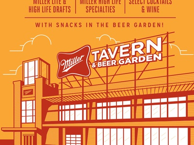 Miller Tavern & Beer Garden Poster (terminated direction)