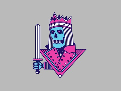 King Kill for Intel. giphy playing cards gamer intel inside branding illustration emoticon twitch sword intel playing card skeleton skull king kill icon gaming
