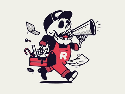 Retro Supply Co. Limited Halloween Edition worker dry goods merchandise merch tees tee illustration branding apparel t-shirt retro supply co mascot skull halloween limited edition growcase
