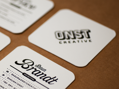 Onst creative embossed business cards