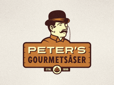 Peters gourmets ser logo