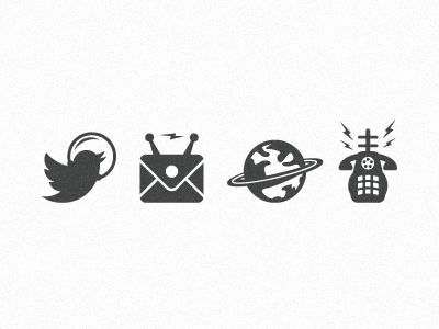 Space Theme Icons for Letterpress growcase icon icons twitter space space theme spacebound creative spacebound planet mail url phone cosmic outer space outerspace letterpress email