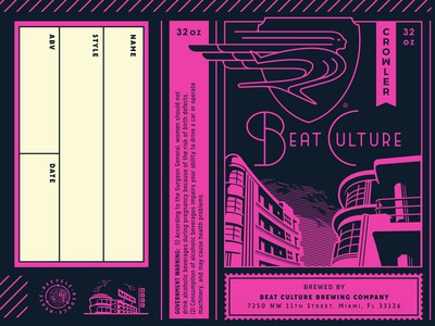 Beat Culture Brewing Co. - Crowler Design