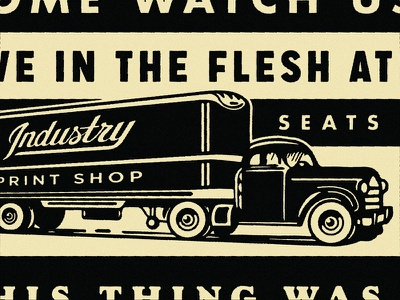 Crop from Crop typography truck illustration cropcons live screen printing industry print shop conference louisiana baton rouge crop 2019 growcase