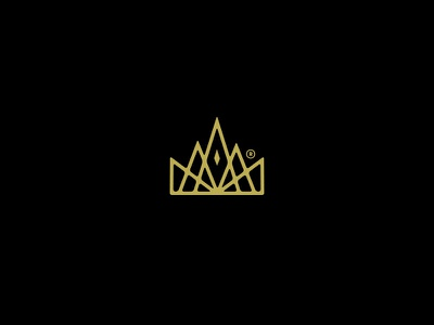 Crown mark royalty royal brand mark brand identity kings king branding logomark logo crown forefathers group growcase
