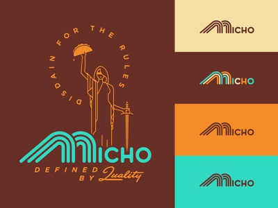 Micho custom type logotype brand identity branding logo design south carolina charleston micho mexico tacos torts sonoran dogs mexican food