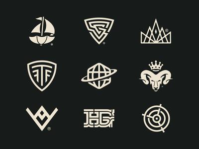 Brand Identity Marks & Symbols 2013-2019 (Behance) logo designer brand designer brand mark logotype symbol logomark logos growcase forefathers branding collection