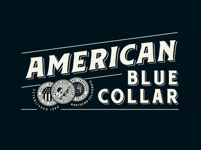 American Blue Collar - Brand Assets 1/3 merchandise merch workwear working class mechanics mechanic logotype logo design hammer growcase entrepreneurs electricians electrician contractors contractor carpenters carpenter branding brand identity american blue collar