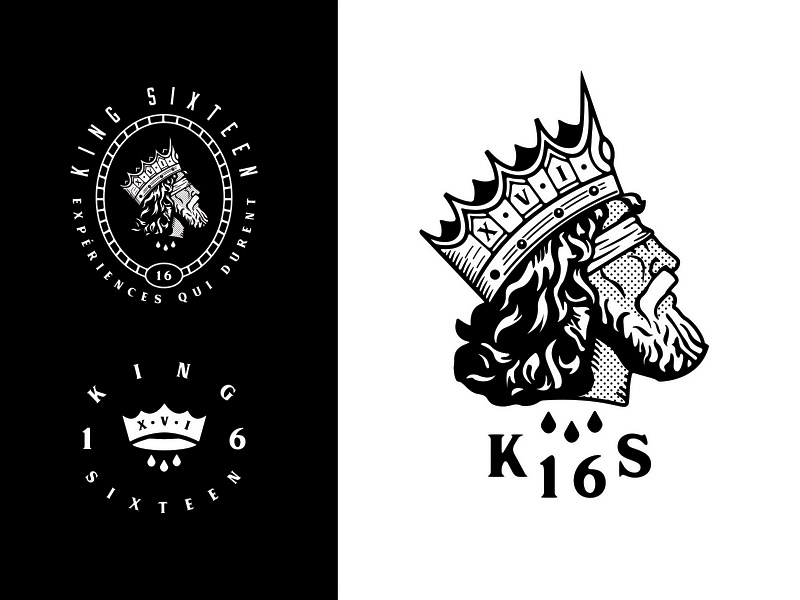 King Sixteen - Responsive Rebranding (1/2) emblem badge royalty royal custom type logotype marketing event producers events rebrand rebranding brand identity branding logo crown king sixteen growcase forefathers