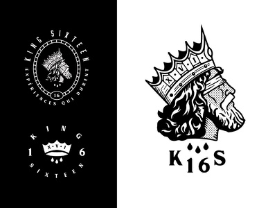 King Sixteen - Responsive Rebranding (1/2) emblem badge royalty royal custom type logotype marketing event producers events rebrand rebranding brand identity branding logo crown king sixteen growcase forefathers