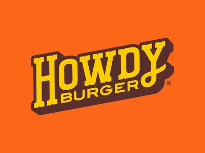 Howdy Burger Logotype mascot pattern responsive branding brand identity tulsa oklahoma western burgers hamburgers hamburger howdy burger cowboy custom typography type logotype logo design forefathers growcase