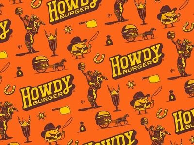 Howdy Burger Pattern