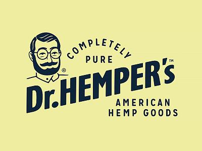 Dr.Hemper's - Pure American Hemp Goods (1/2) marijuana logo designer brand identity branding logotype logo circumventures dr. hempers hemp based cbd oil