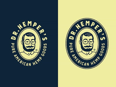 Dr.Hemper's - Pure American Hemp Goods (2/2) emblem badge marijuana logo designer brand identity branding logotype logo circumventures hemp based cbd oil
