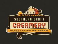 Southern Craft Creamery branding concept (Scrapped)