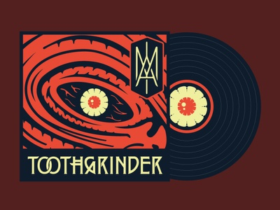 "Toothgrinder - ""IAM"" album cover art vinyl recordsleeve record sleeve monogram eye metal music spinefarm records album artwork cover art iam toothgrinder"