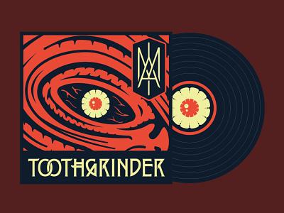 "Toothgrinder - ""IAM"" album cover art vinyl recordsleeve record sleeve monogram eye metal music spinefarm records album artwork cover art iam toothgrinder"