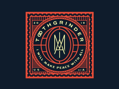 "Toothgrinder - ""IAM"" fold out poster poster foldout monogram eye metal music spinefarm records album artwork cover art iam toothgrinder"