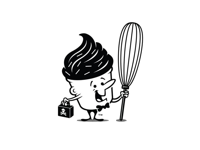 Johnny Cupcakes - Mascot illustration massachusetts boston cupcake vintage retro johnny cupcakes mascot
