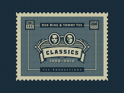 """Stamp for Album Cover Art (Ken Ring & Tommy Tee - """"Classics"""") growcase cover art album art record tee productions tommy tee ken ring tee prod stamp classics hits greatest hits compilation album cover album head art design designer logo designer hiphop hip hop hip-hop rap rapper producer oslo stockholm post stamp"""