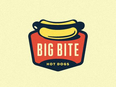 Big Bite Hot Dogs Logo growcase logo logo design logo designer identity branding meat hot dog hot dogs hot dog stand fast food sausage wiener cart hot dog cart shape container