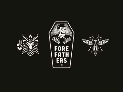 It's a Forefathers Christmas ora pro nobis lucifer satanas wasp baphomet sticker pack stickers hail santa satan xmas christmas forefathers