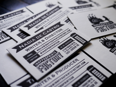 Inappropriate Factory Letterpressed Business Cards