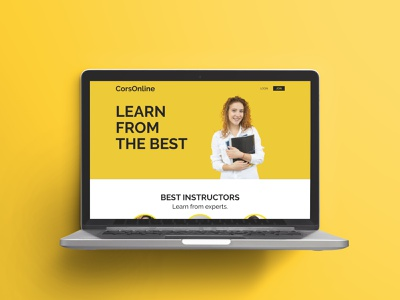 Daily UI 003 - Landing Page online learning online education online course landing page design ui checkout graphic design dailyui challenge
