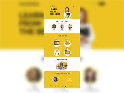 Daily UI 003 - Landing Page Full design ui graphic design dailyui challenge
