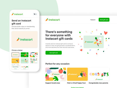 Instacart Gift Cards design