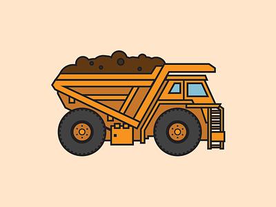 Dump Truck dump truck illustration kids art trucks construction builders