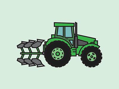 Tractor illustration builders construction tractor kids art farming farm equipment