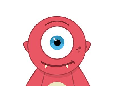 Monster Dude illustration monster kids room pink red fangs unibrow sketch sketch app