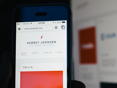 New Portfolio ios portfolio website illustrations mobile responsive logo branding live site redesign